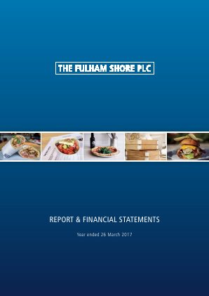 Fulham Shore Plc(The) annual report 2017
