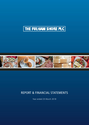 Fulham Shore Plc(The) annual report 2018