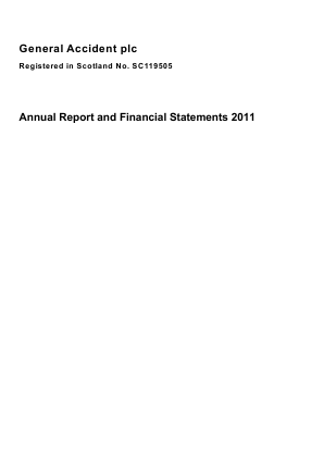 General Accident Plc annual report 2011