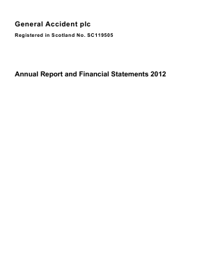 General Accident Plc annual report 2012