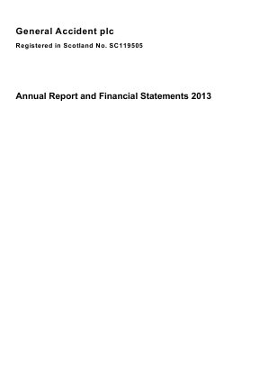 General Accident Plc annual report 2013