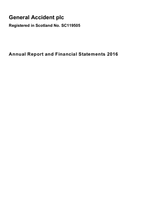 General Accident Plc annual report 2016