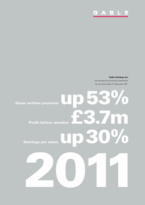 Gable Holdings Inc annual report 2011