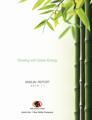 Gail(India) annual report 2011