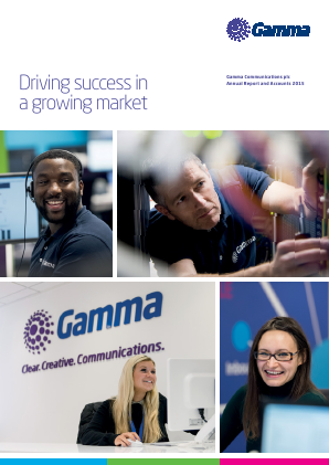 Gamma Communications Plc annual report 2015