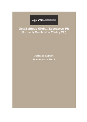 Altyn (previously Goldbridges Global Resources) annual report 2013