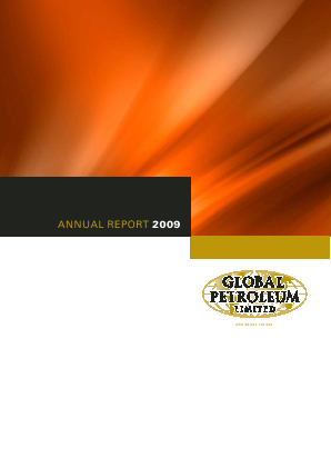 Global Petroleum annual report 2009