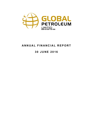 Global Petroleum annual report 2016
