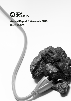Gcm Resources Plc annual report 2016