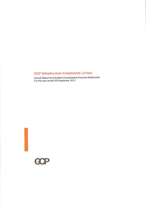 GCP Infrastructure Investments annual report 2012
