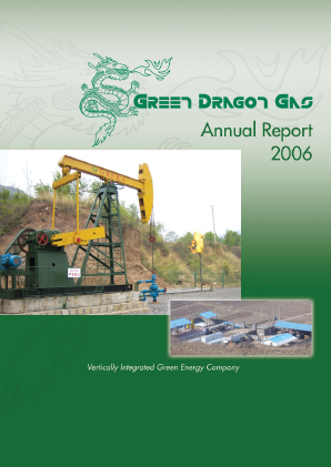 Green Dragon Gas annual report 2006