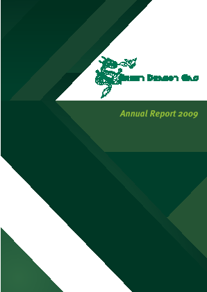 Green Dragon Gas annual report 2009