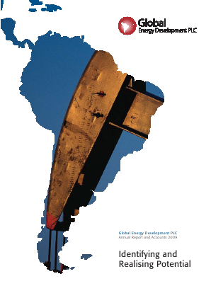 Nautilus Marine Services (Previously Global Energy Development) annual report 2009