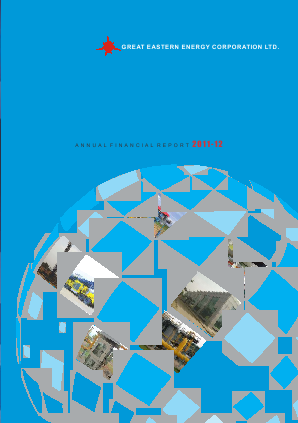 Great Eastern Energy Corp annual report 2012