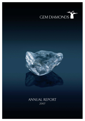 Gem Diamonds annual report 2007