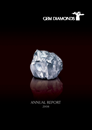 Gem Diamonds annual report 2008