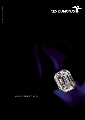 Gem Diamonds annual report 2009