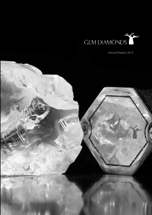 Gem Diamonds annual report 2015