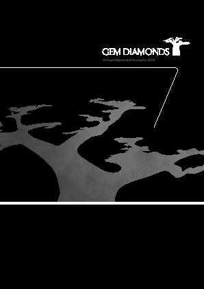Gem Diamonds annual report 2016