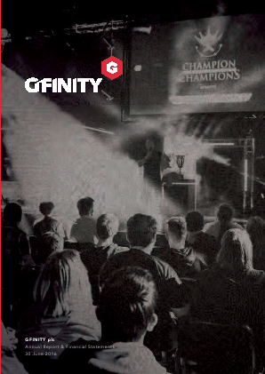 Gfinity Plc annual report 2016