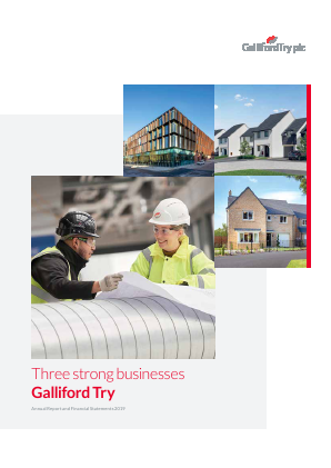 Galliford Try Plc annual report 2019