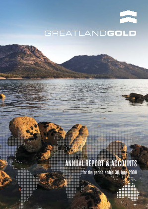 Greatland Gold Plc annual report 2009