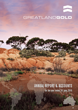 Greatland Gold Plc annual report 2016