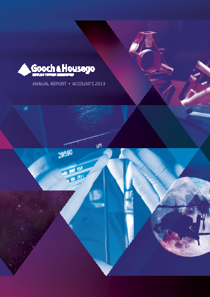 Gooch & Housego Plc annual report 2013