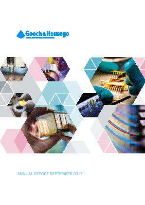 Gooch & Housego Plc annual report 2017