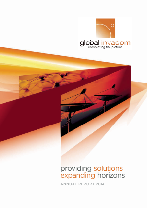 Global Invacom Group annual report 2014