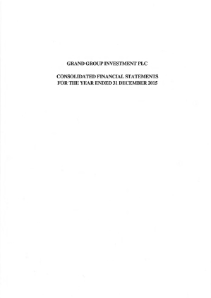 Grand Group Investment Plc annual report 2015