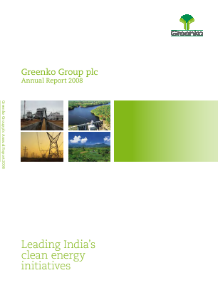 Greenko Group Plc annual report 2008