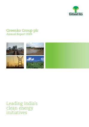 Greenko Group Plc annual report 2009