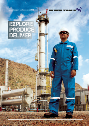 Gulf Keystone Petroleum annual report 2013