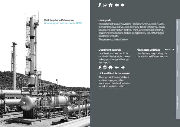 Gulf Keystone Petroleum annual report 2016