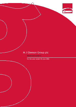 MJ Gleeson Plc annual report 2006