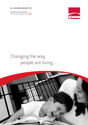 MJ Gleeson Plc annual report 2007