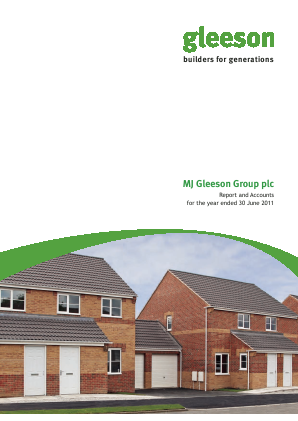 MJ Gleeson Plc annual report 2011