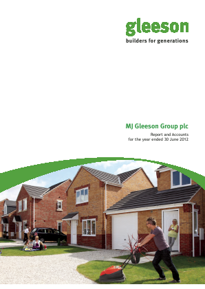 MJ Gleeson Plc annual report 2012