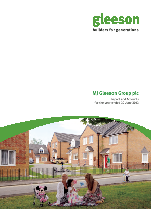 MJ Gleeson Plc annual report 2013