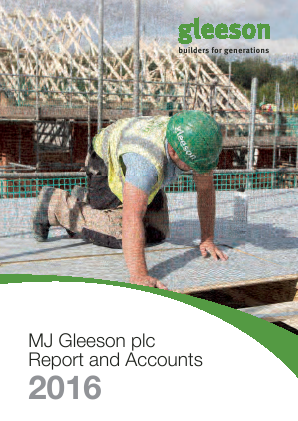 MJ Gleeson Plc annual report 2016