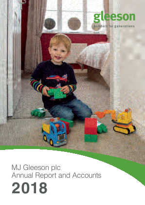 MJ Gleeson Plc annual report 2018