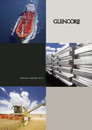 Glencore annual report 2010