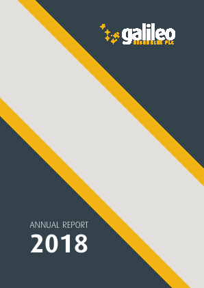 Galileo Resources Plc annual report 2018