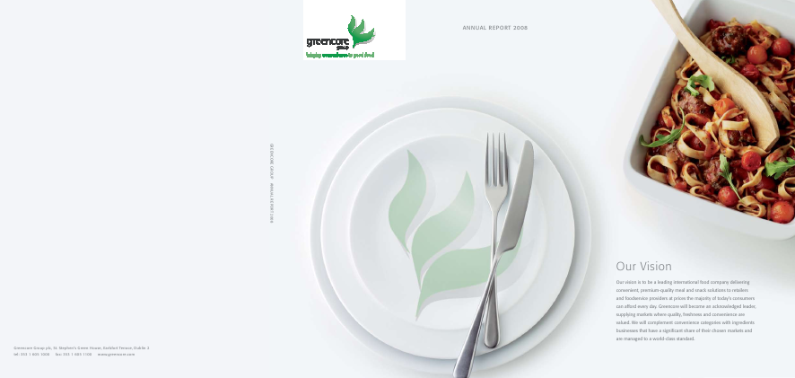 Greencore Group annual report 2008