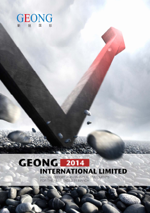 Geong International annual report 2014