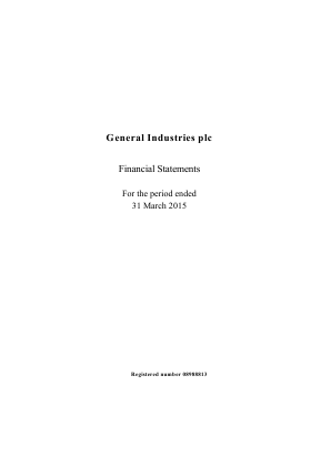 General Industries Plc annual report 2015