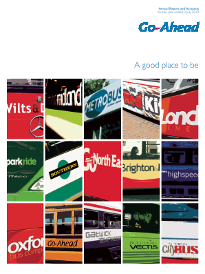 Go-ahead Group annual report 2010