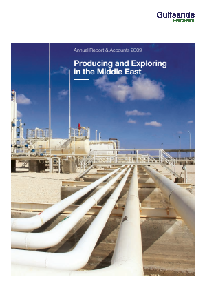 Gulfsands Petroleum annual report 2009