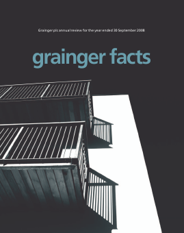 Grainger Plc annual report 2008